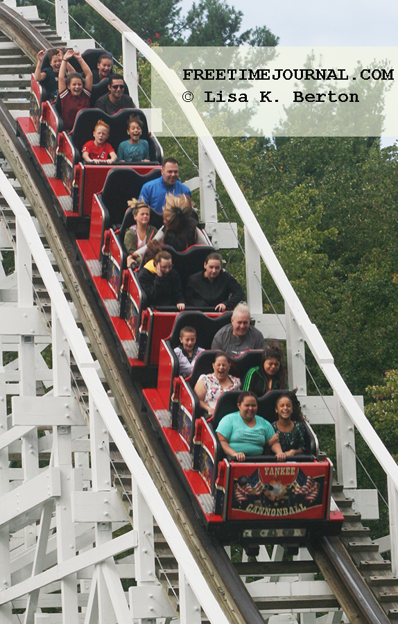 Experience a wooden coaster