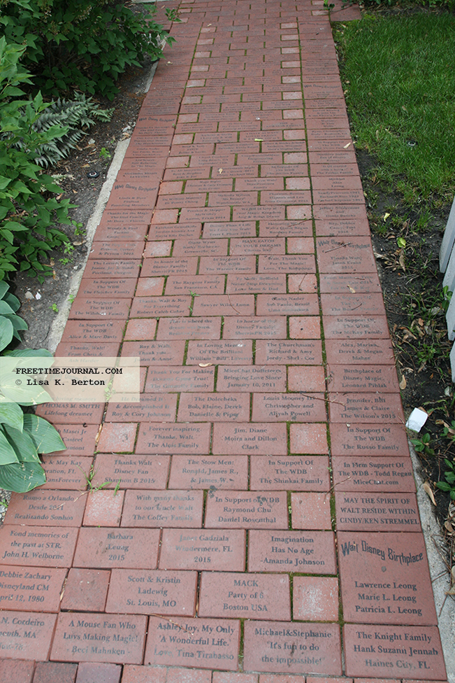 An early fundrasier was engraved bricks.