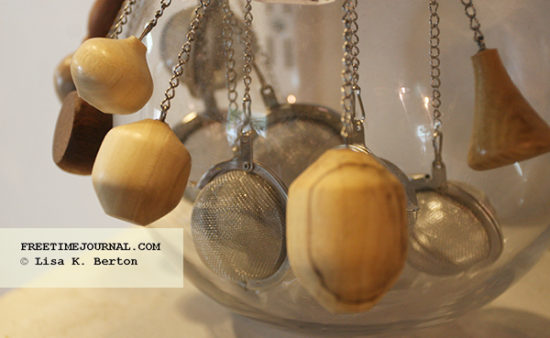 Tea infusers at Boston Woodturning