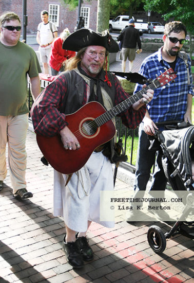 Serenading pirate, just another day in Salem