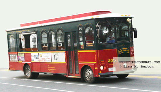 Salem Trolleys are easy to spot