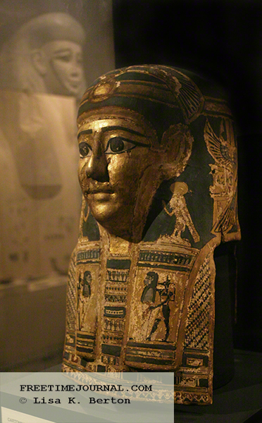Cartonnage Mummy Mask from the Ptolemaic period