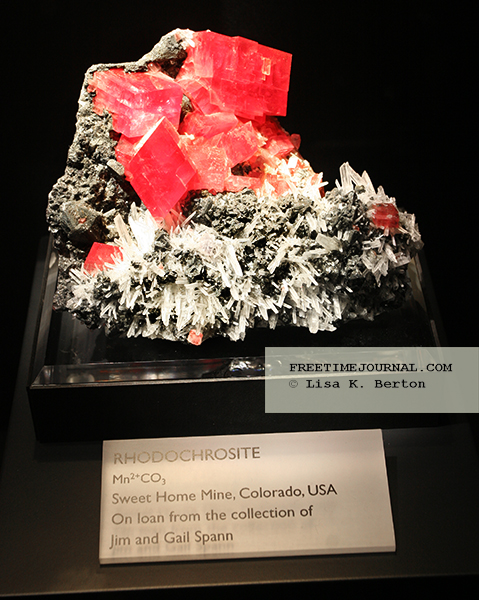 Rhodochrosite is a manganese carbonate mineral